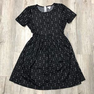 LuLaRoe 2XL black jacquard Amelia dress